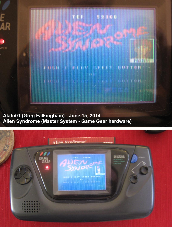 Akito01: Alien Syndrome (Sega Master System) 52,100 points on 2014-06-15 15:21:49