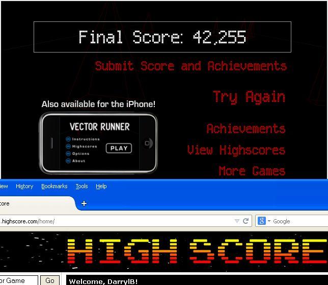 Vector Runner 42,255 points