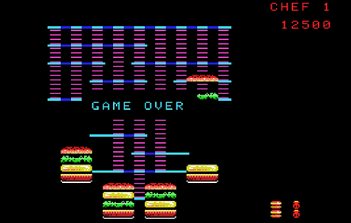 BurgerTime 12,500 points
