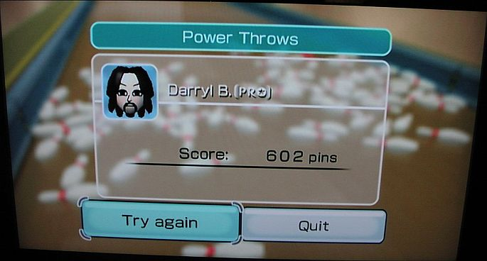 DarrylB: Wii Sports: Bowling [Power Throws] (Wii) 602 points on 2014-06-16 09:19:00