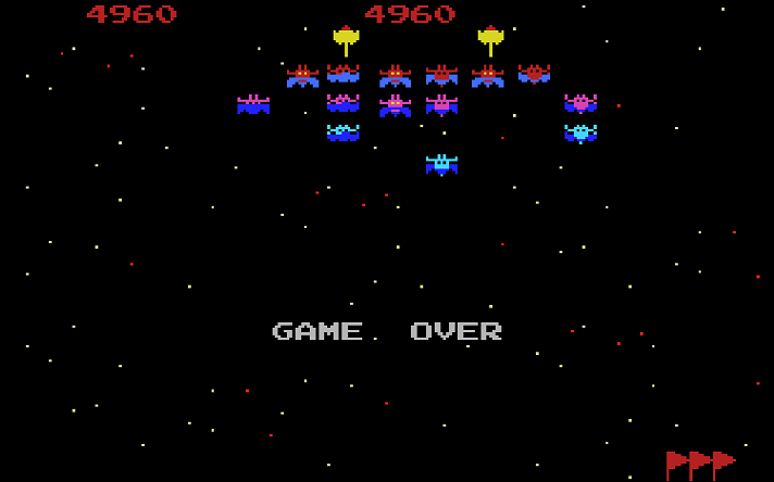 Galaxian: Novice 4,960 points