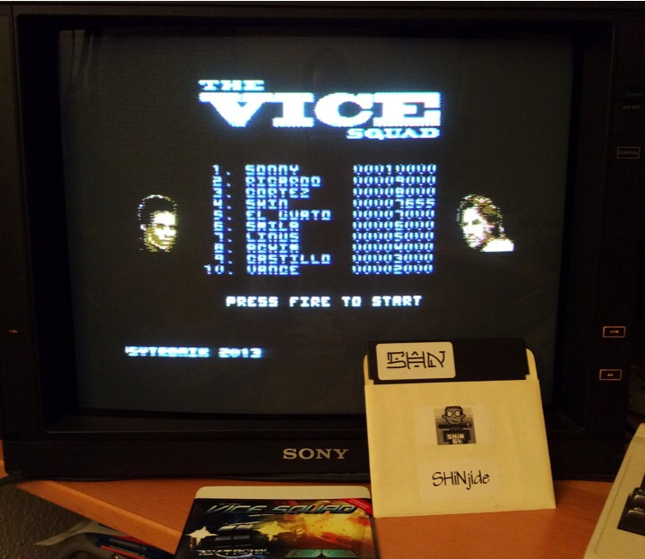 SHiNjide: The Vice Squad (Commodore 64) 7,655 points on 2014-06-18 01:01:31