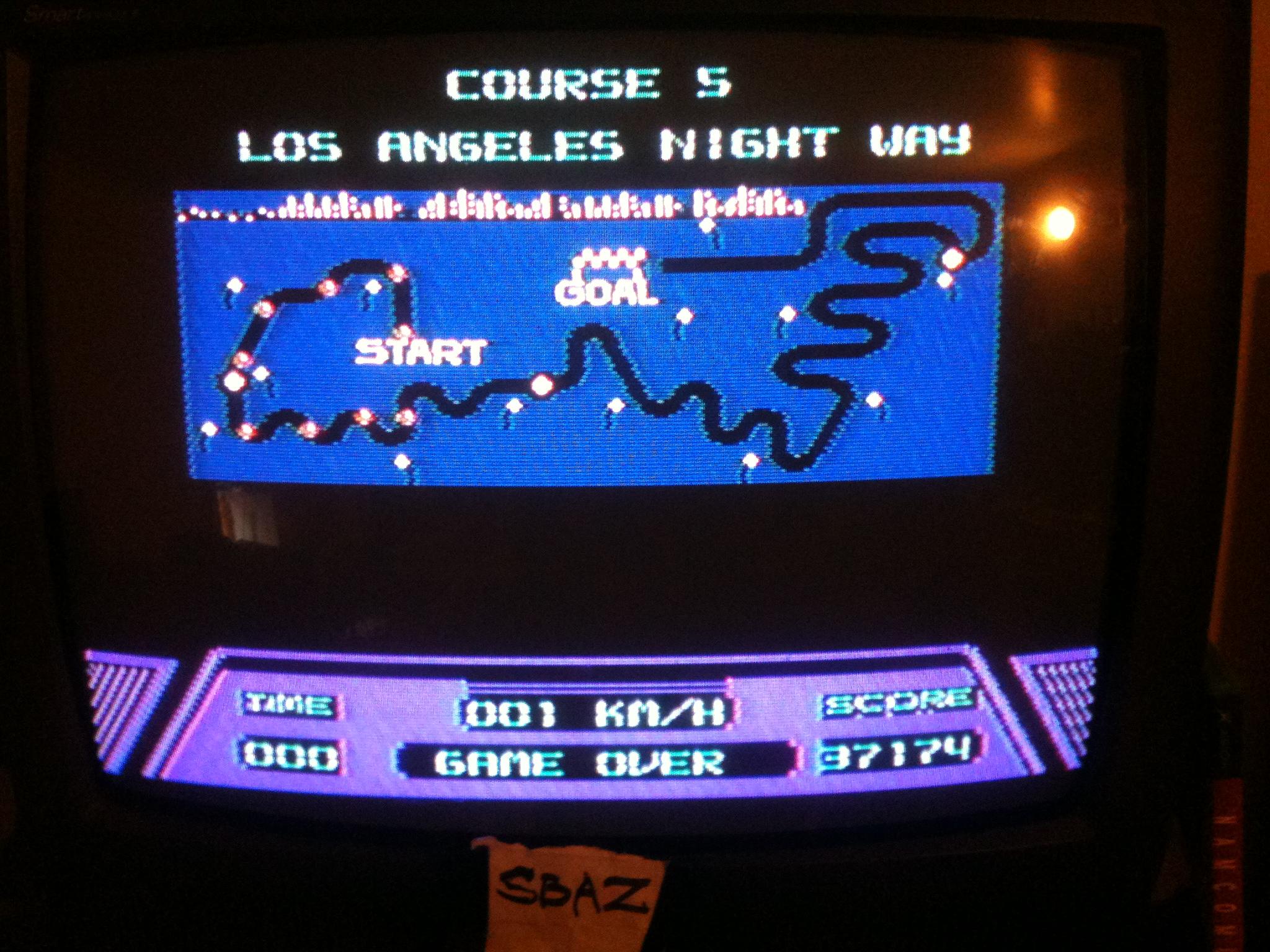 Rad Racer 37,174 points