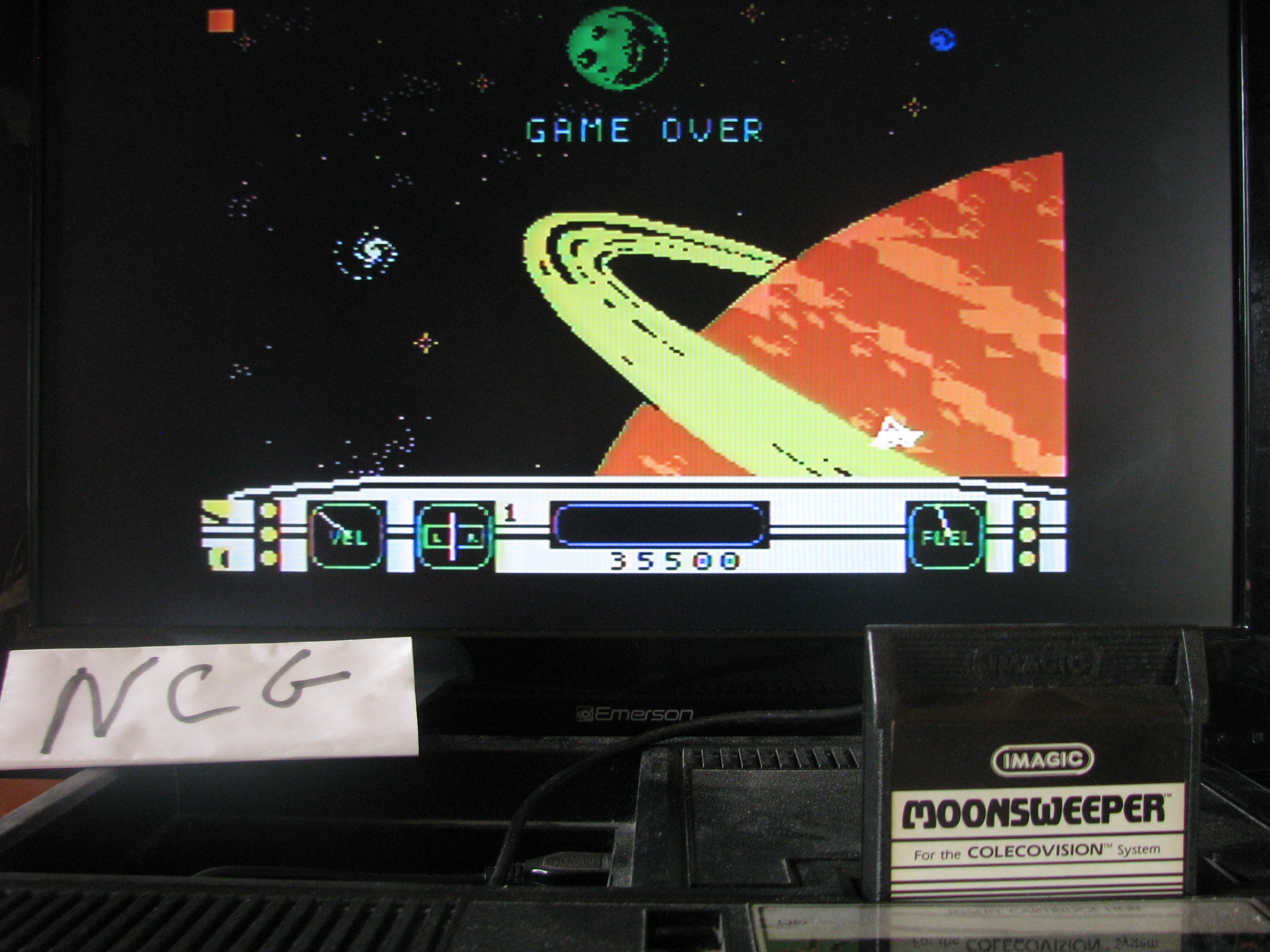 NorthCoastGamer: Moonsweeper (Colecovision) 35,500 points on 2014-06-19 14:37:43