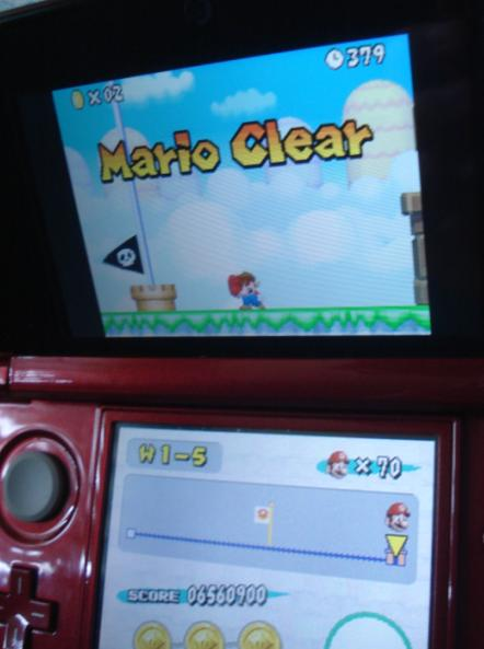 Zimer: New Super Mario Bros.: World 1-5 [Remaining Time] (Nintendo DS) 379 points on 2014-06-19 22:54:41