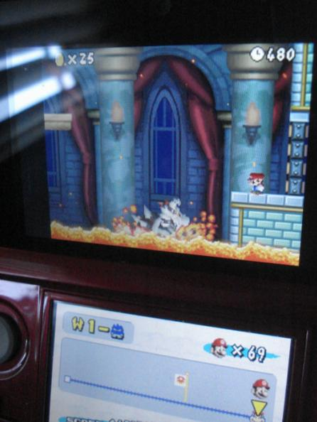 New Super Mario Bros.: World 1-Castle [Remaining Time] 480 points
