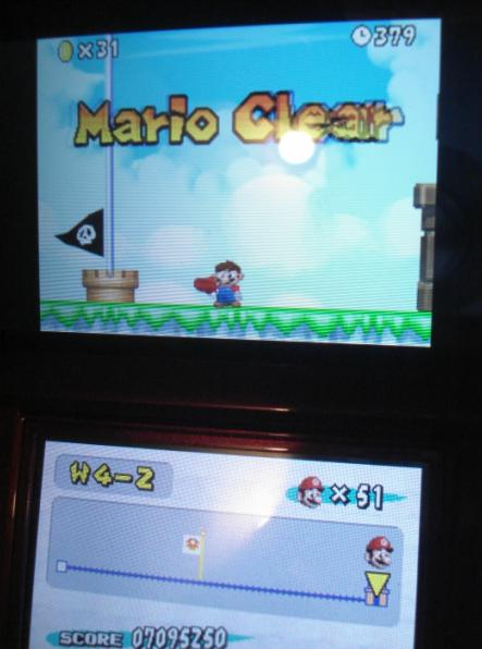 New Super Mario Bros.: World 4-2 [Remaining Time] 379 points