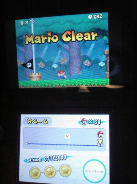 New Super Mario Bros.: World 4-4 [Remaining Time] 282 points