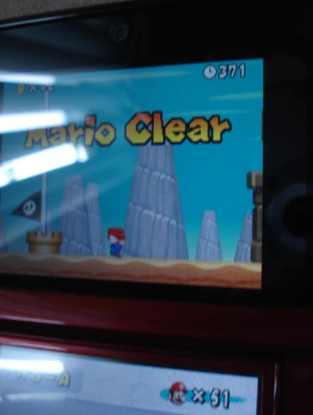 New Super Mario Bros.: World 6-A [Remaining Time] 371 points