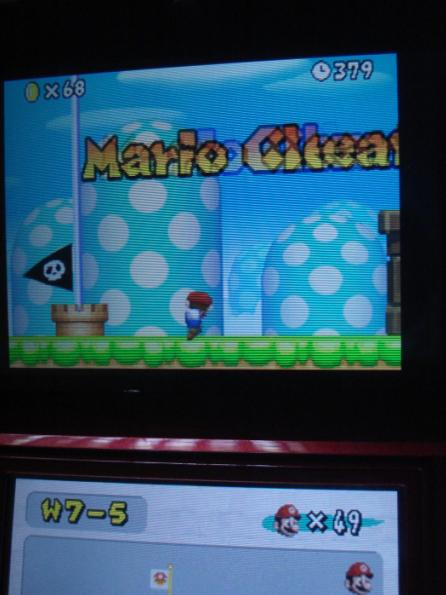 New Super Mario Bros.: World 7-5 [Remaining Time] 379 points