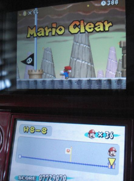 Zimer: New Super Mario Bros.: World 8-8 [Remaining Time] (Nintendo DS) 388 points on 2014-06-19 23:04:30