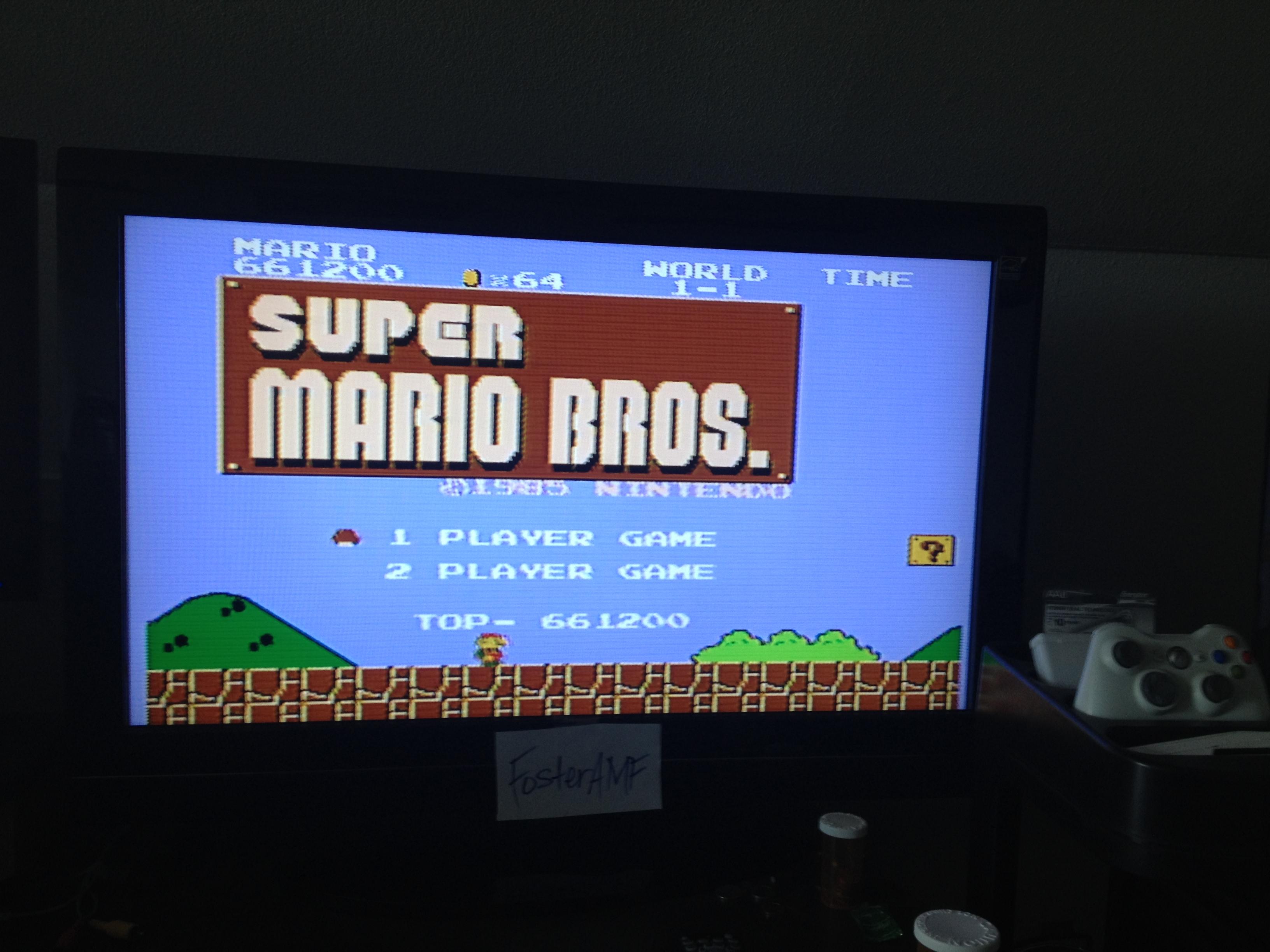 FosterAMF: Super Mario Bros. (NES/Famicom) 661,200 points on 2014-06-20 14:17:49