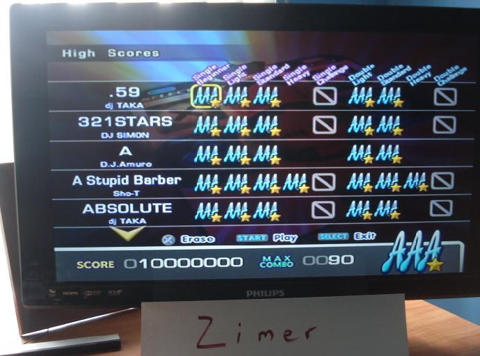 Zimer: DDR Extreme: .59 [Single/Beginner] (Playstation 2) 10,000,000 points on 2014-06-20 23:22:19