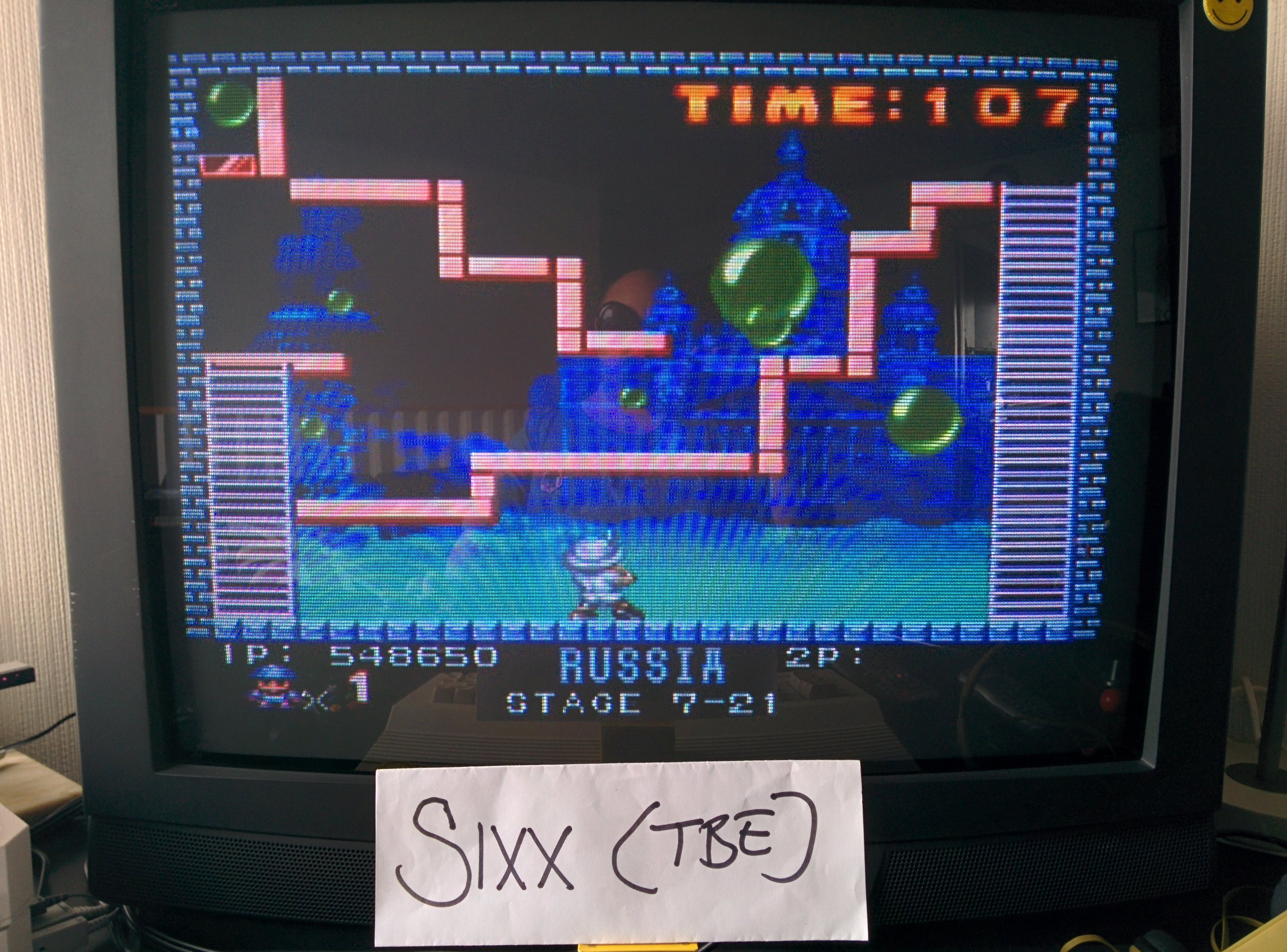 Sixx: Buster Bros. (TurboGrafx-16/PC Engine Emulated) 548,650 points on 2014-06-21 06:30:47