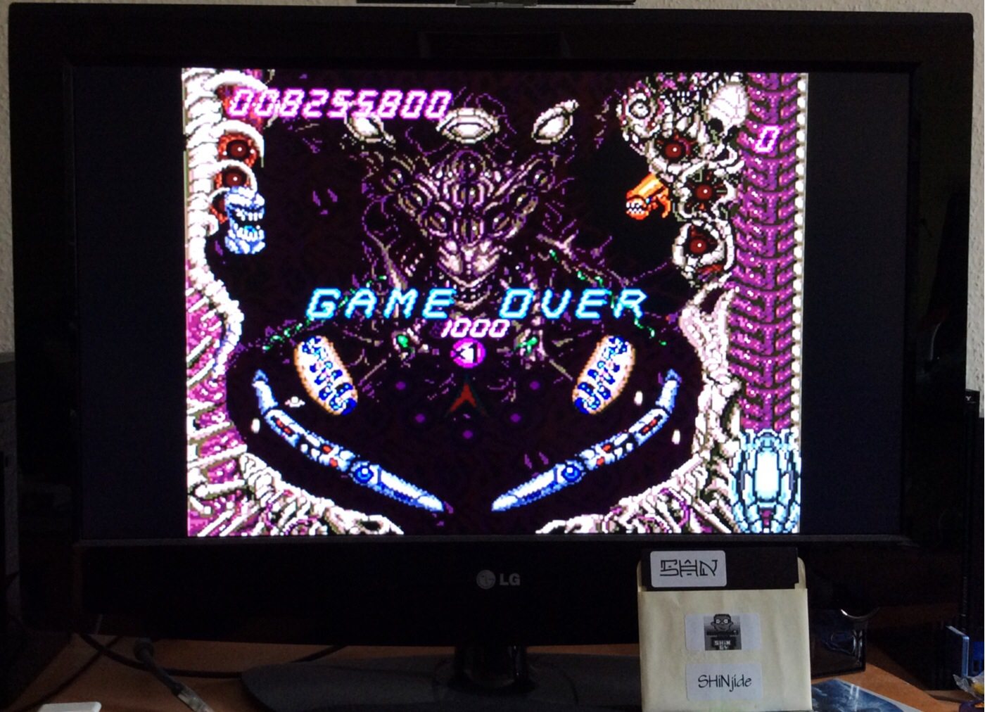 SHiNjide: Alien Crush (TurboGrafx-16/PC Engine Emulated) 8,255,800 points on 2014-06-21 06:52:04