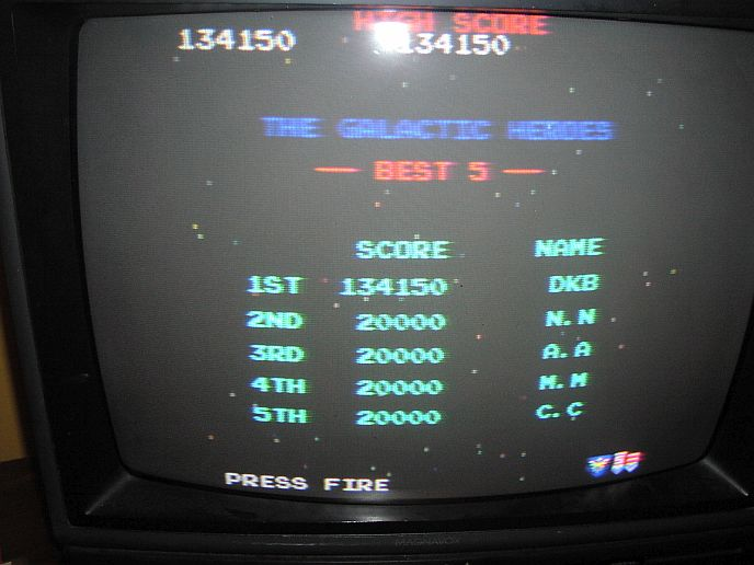 DarrylB: Galaga (Jakks Pacific Retro Arcade Pac-Man) 134,150 points on 2014-06-22 22:57:34