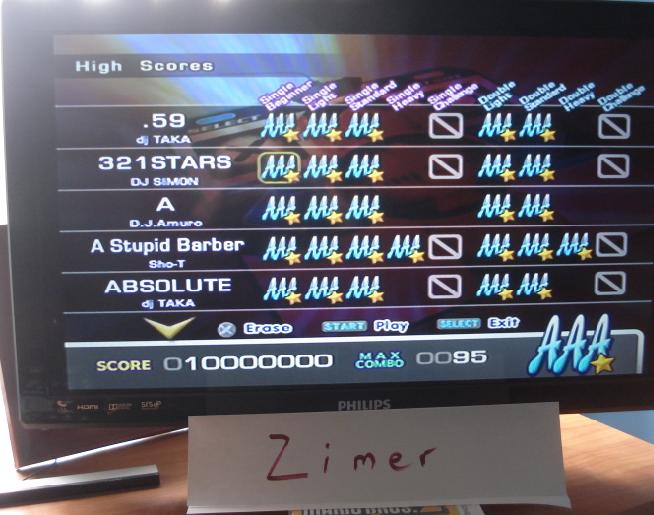 Zimer: DDR Extreme: 321 Stars [Single/Beginner] (Playstation 2) 10,000,000 points on 2014-06-23 13:56:15