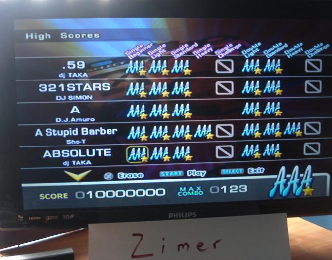 Zimer: DDR Extreme: Absolute [Single/Beginner] (Playstation 2) 10,000,000 points on 2014-06-23 23:05:47