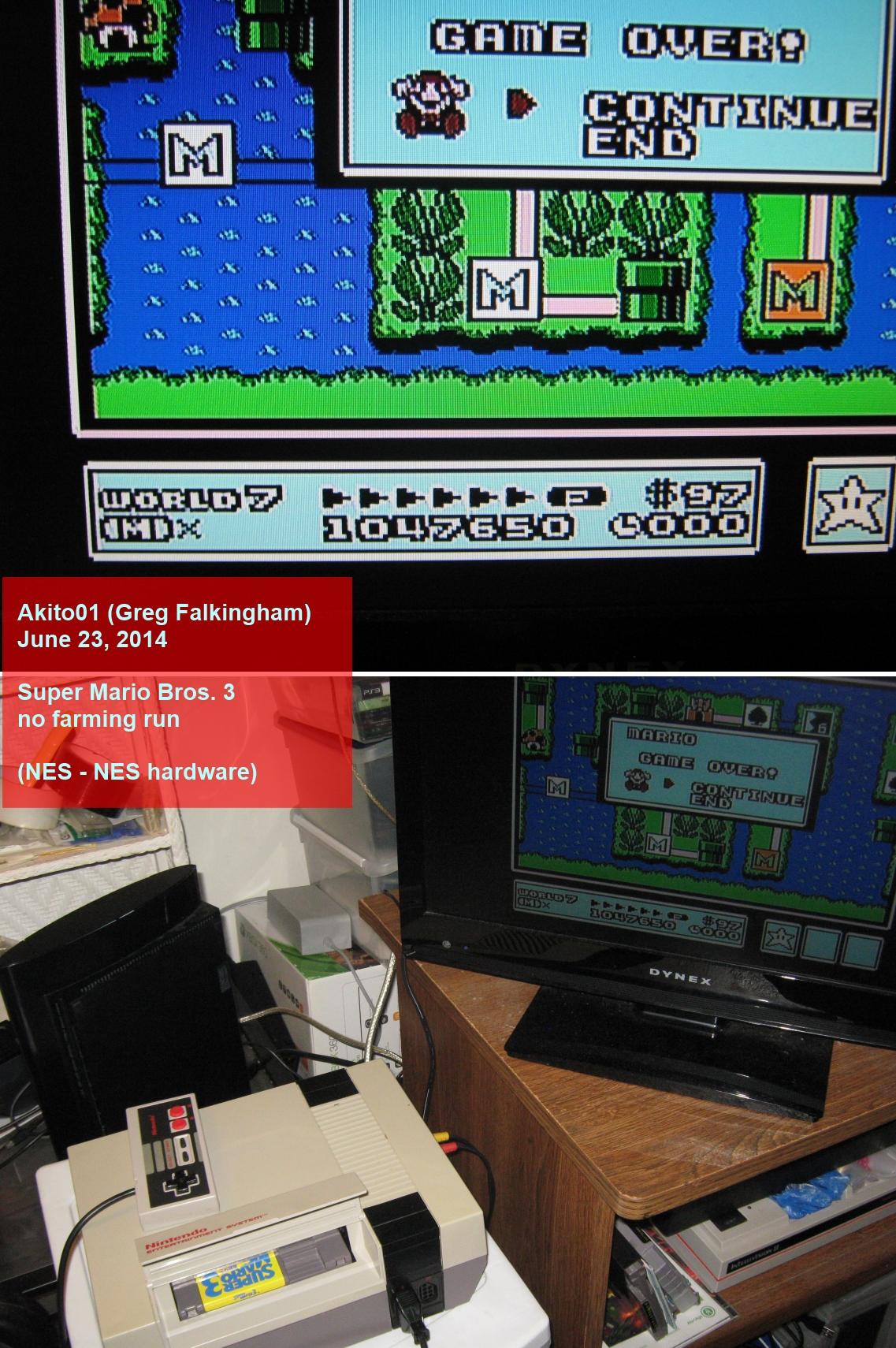 Super Mario Bros. 3 [No Farming] 1,047,650 points