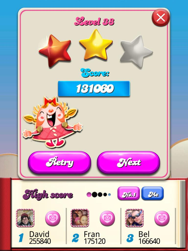 Candy Crush Saga: Level 038 131,060 points