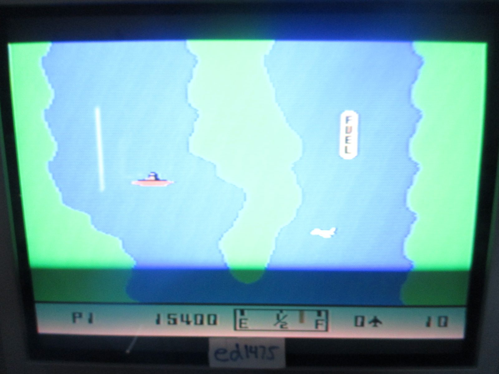 ed1475: River Raid (Colecovision) 15,400 points on 2014-06-24 21:06:25