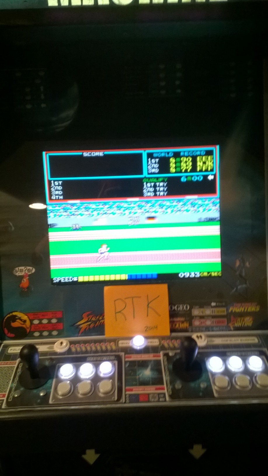 rtkiii: Track and Field (Arcade Emulated / M.A.M.E.) 58,880 points on 2014-06-25 06:51:15
