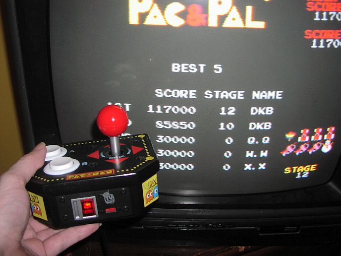 DarrylB: Pac & Pal (Jakks Pacific Retro Arcade Pac-Man) 117,000 points on 2014-06-25 20:28:26