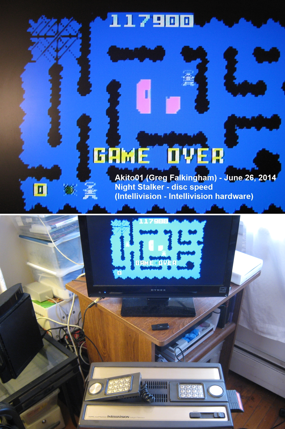 Akito01: Night Stalker: Game Disc [Fastest] (Intellivision) 117,900 points on 2014-06-26 16:56:47