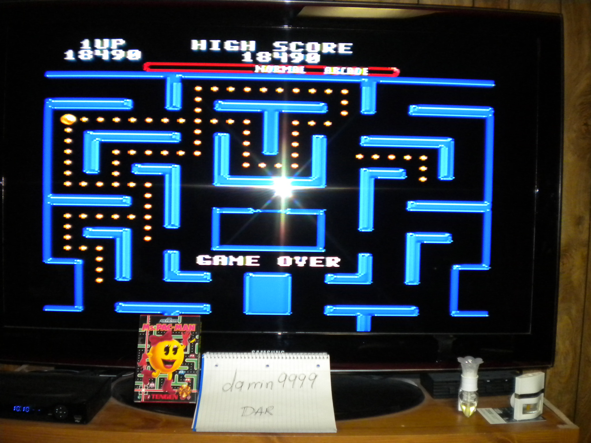 Ms. Pac-Man 18,490 points