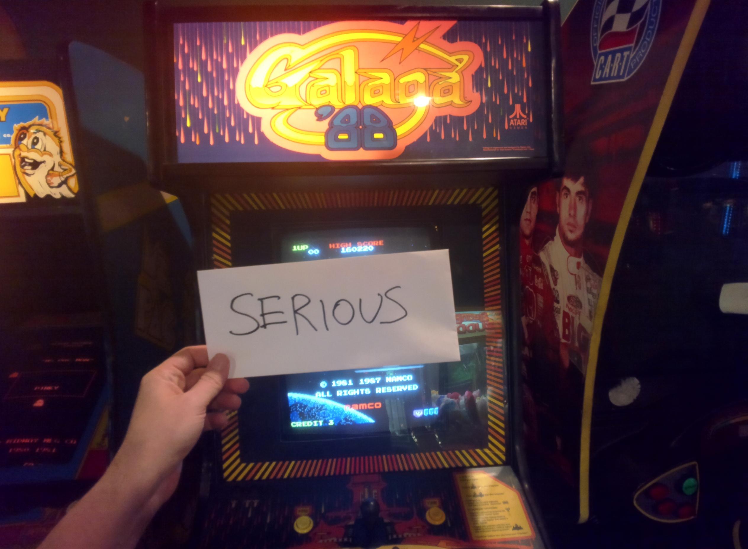 Serious: Galaga 88 (Arcade) 160,220 points on 2014-06-27 08:52:54