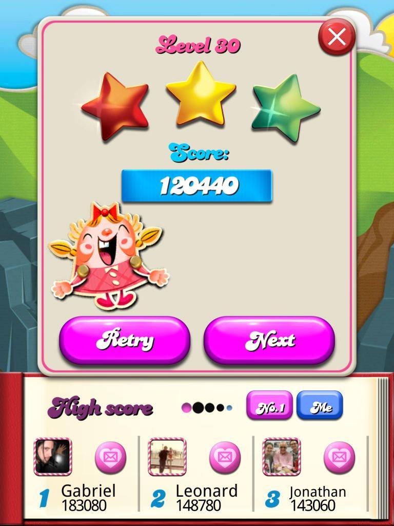killersquirel: Candy Crush Saga: Level 030 (iOS) 120,440 points on 2013-09-29 15:06:59