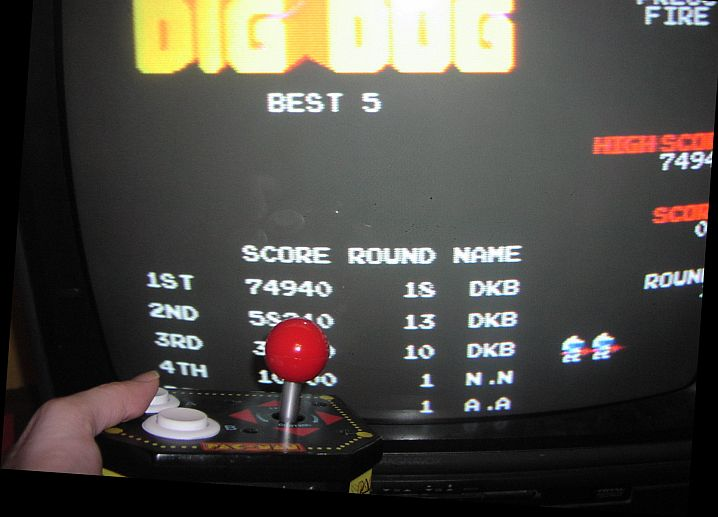 DarrylB: Dig Dug (Jakks Pacific Retro Arcade Pac-Man) 74,940 points on 2014-06-27 23:57:28