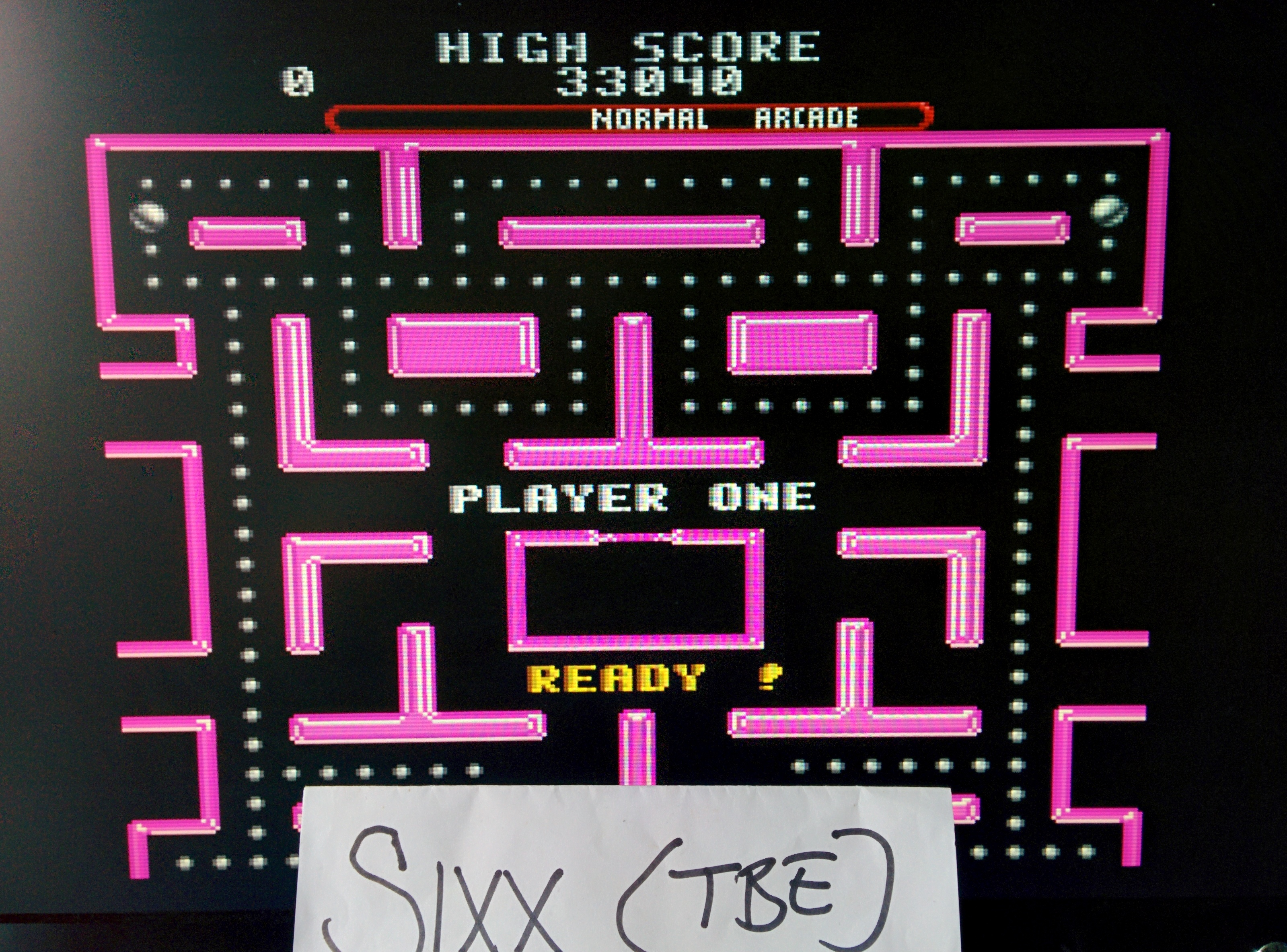 Sixx: Ms. Pac-Man (SNES/Super Famicom Emulated) 33,040 points on 2014-06-28 03:04:06