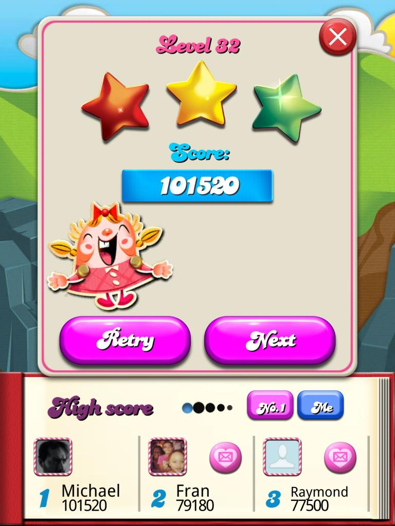 Candy Crush Saga: Level 032 101,520 points