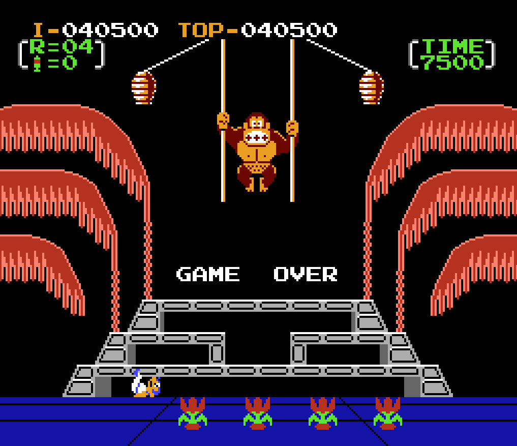 Donkey Kong 3: Game A 40,500 points