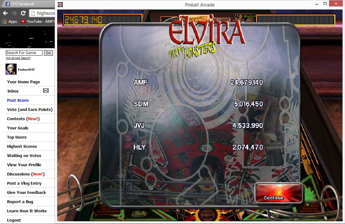 FosterAMF: Pinball Arcade: Elvira (PC) 24,679,140 points on 2014-06-28 15:15:02