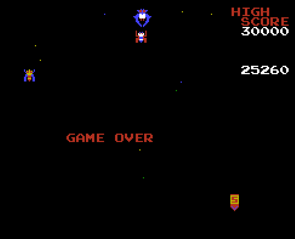 Galaga 25,260 points