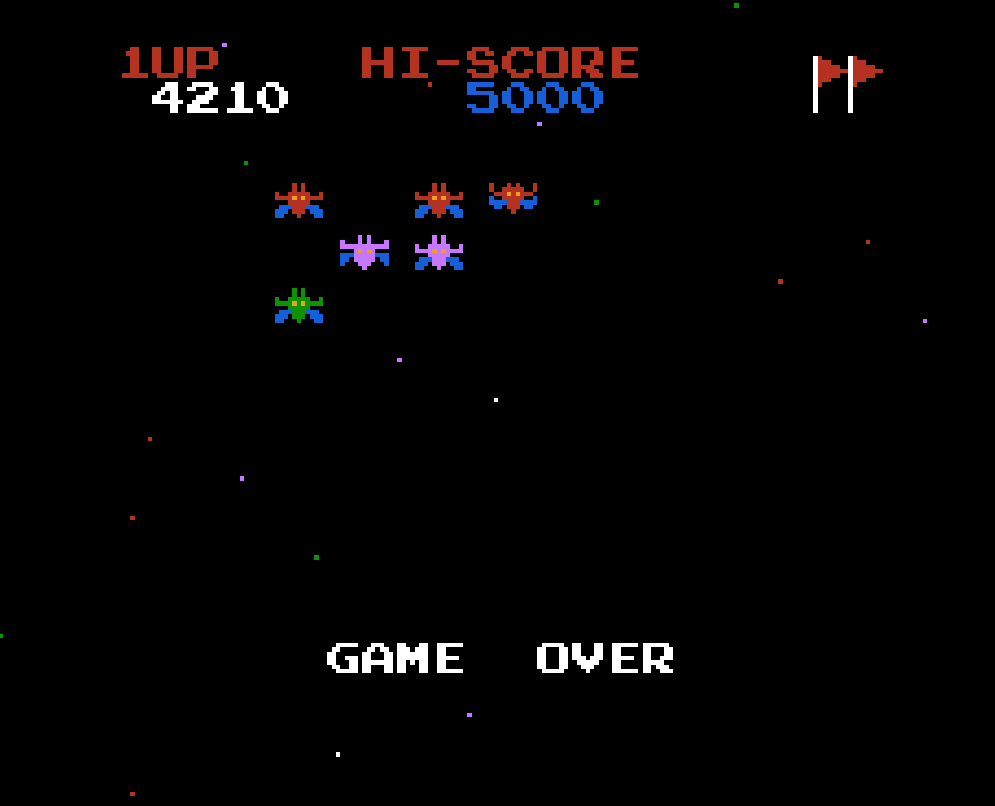 Galaxian 4,210 points