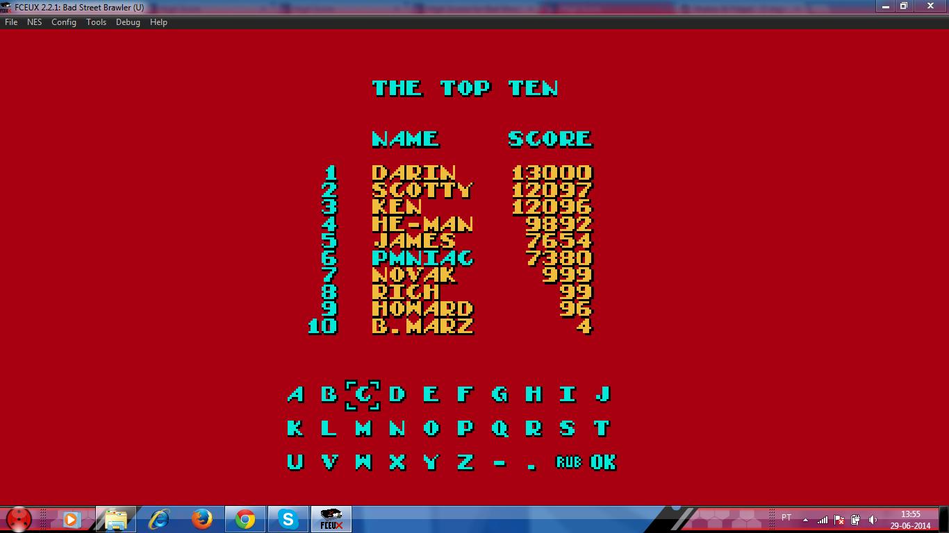 PMniac: Bad Street Brawler (NES/Famicom Emulated) 7,380 points on 2014-06-29 07:55:29