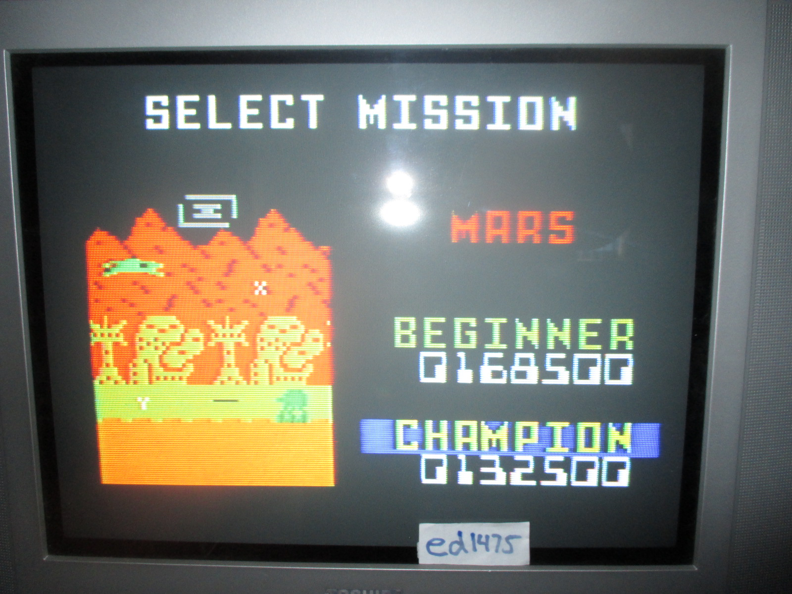 ed1475: Space Patrol: Mars Beginner (Intellivision) 168,500 points on 2014-06-29 17:09:20