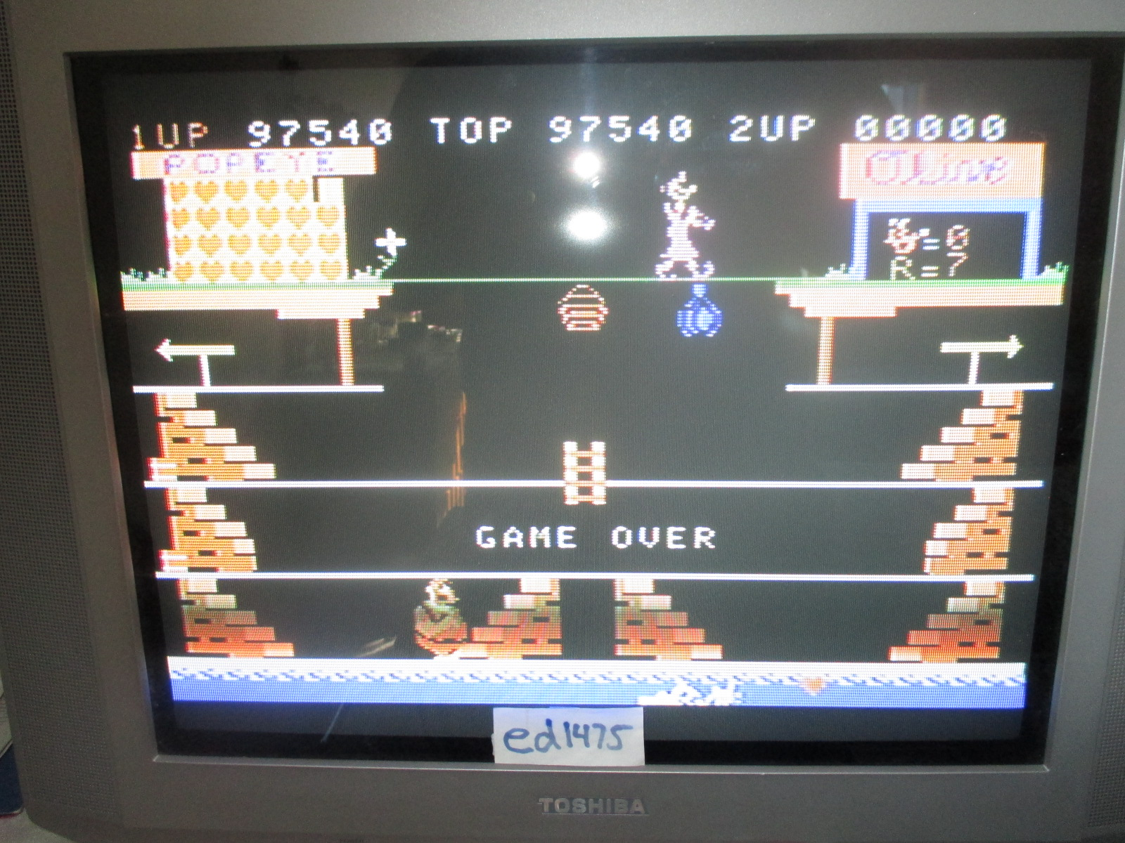 ed1475: Popeye: Skill 1 (Colecovision) 97,540 points on 2014-06-29 17:46:49