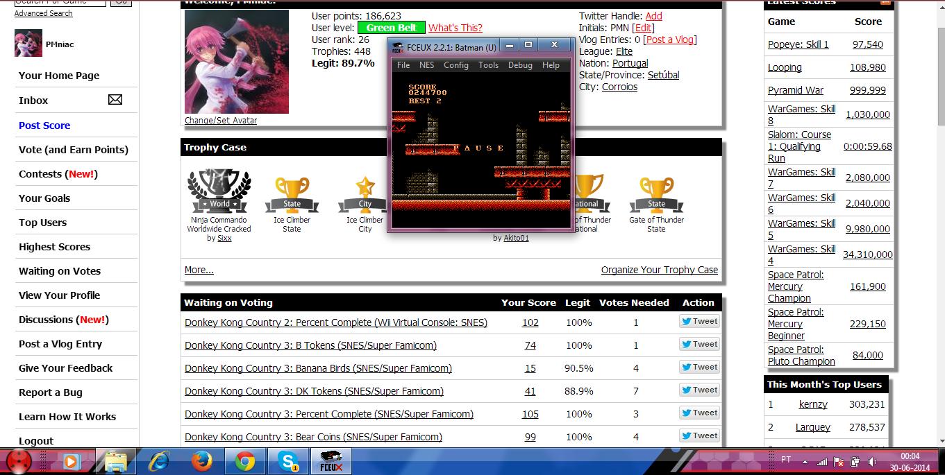 PMniac: Batman (NES/Famicom Emulated) 244,700 points on 2014-06-29 18:04:28