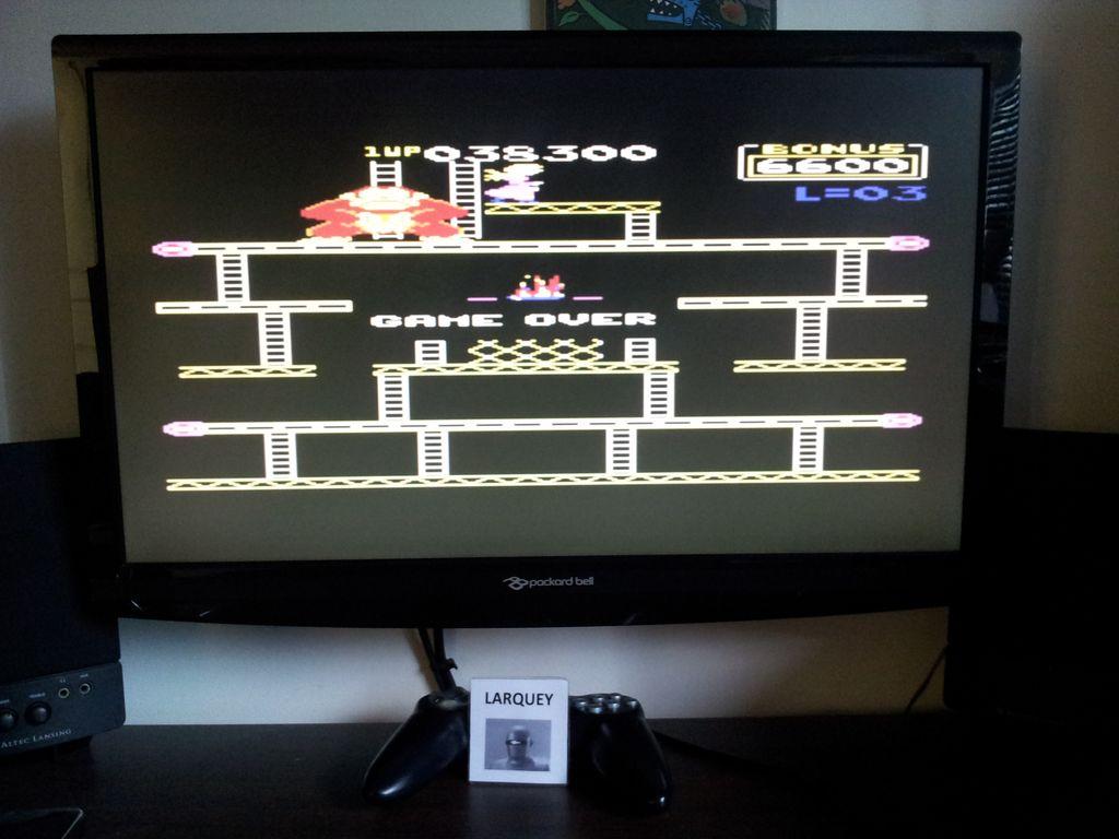 Donkey Kong: Atarisoft 38,300 points