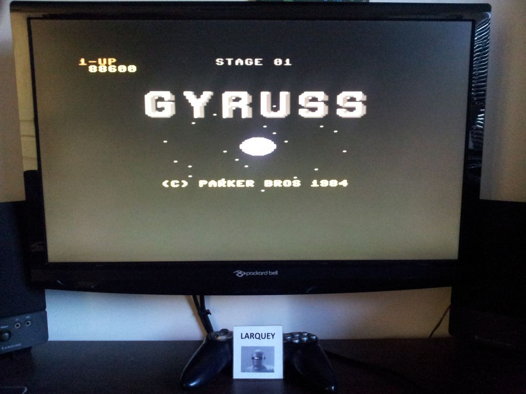 Gyruss 88,600 points