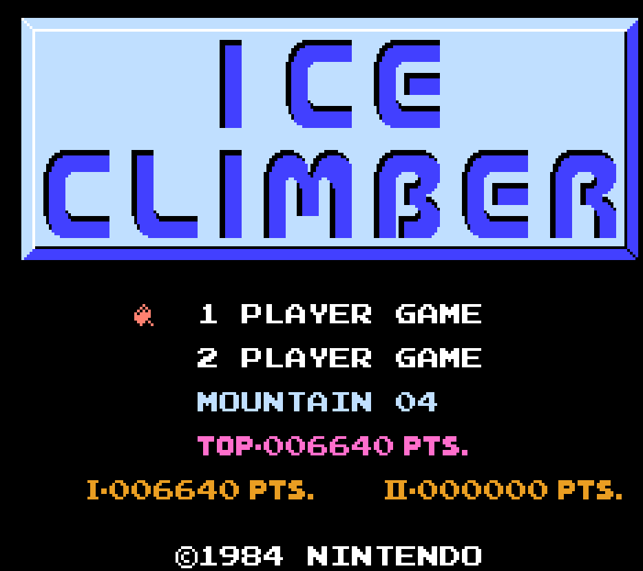 Ice Climber 6,640 points