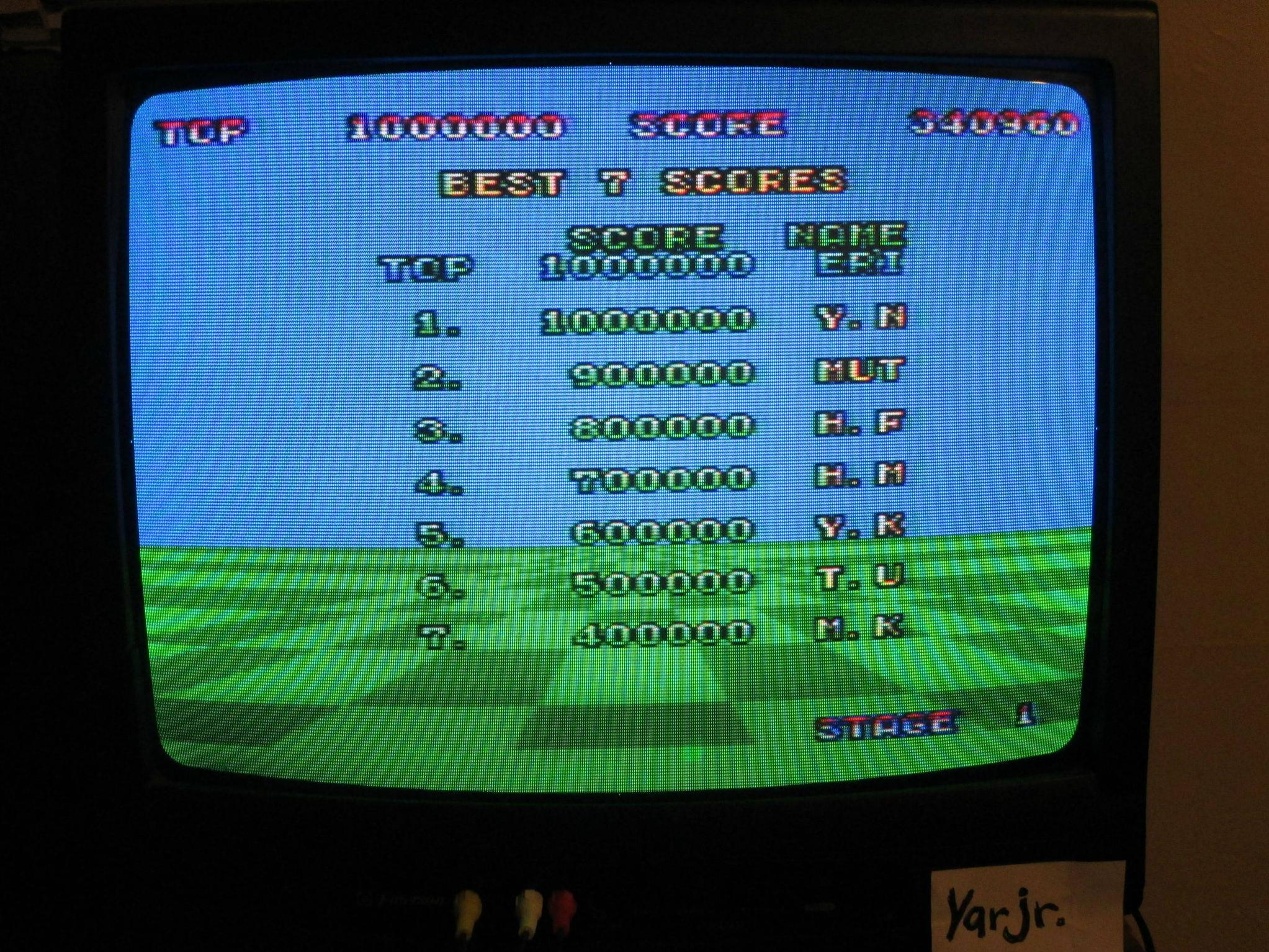 Space Harrier 340,960 points