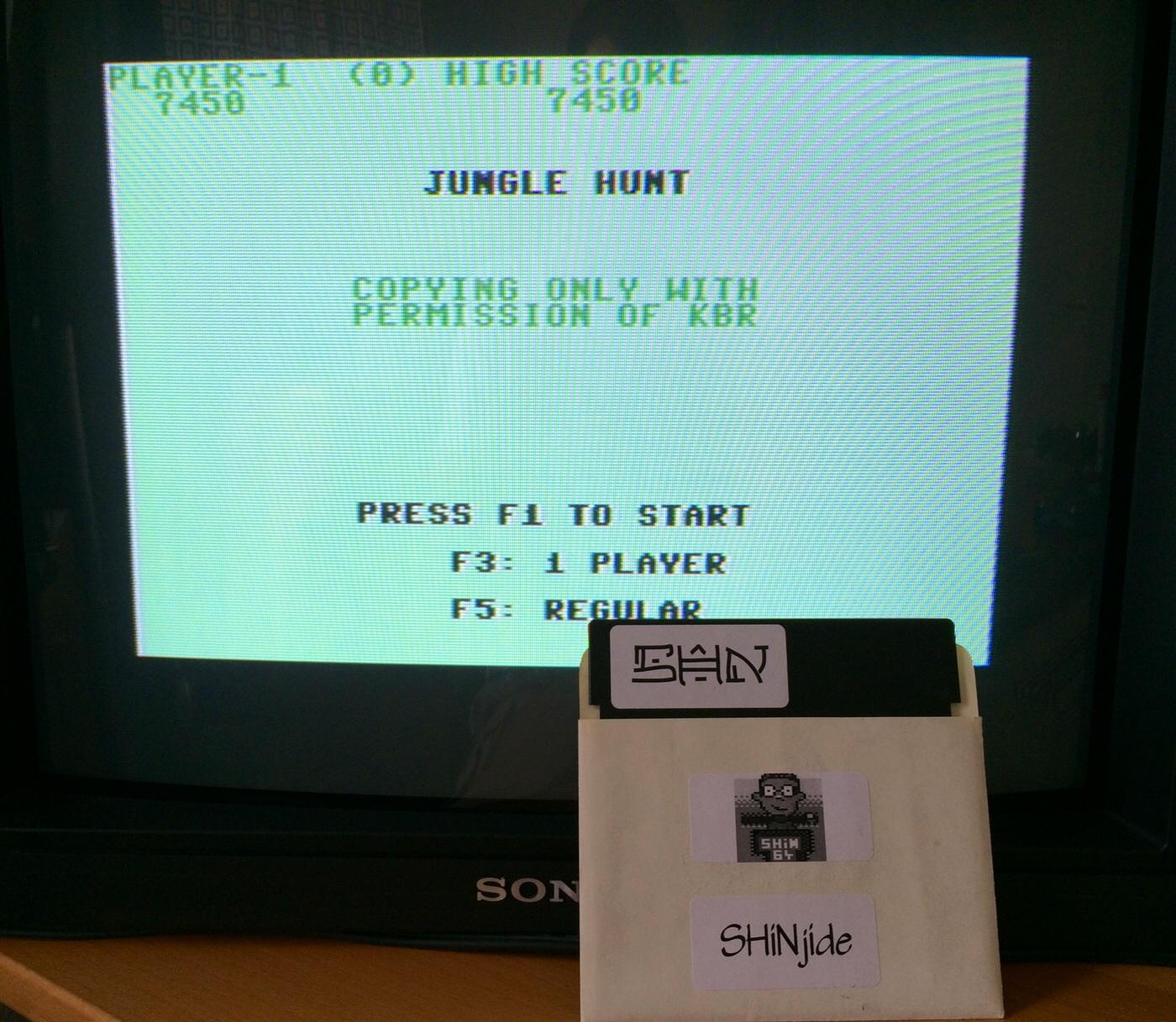 SHiNjide: Jungle Hunt (Commodore 64) 7,450 points on 2014-07-01 09:40:53