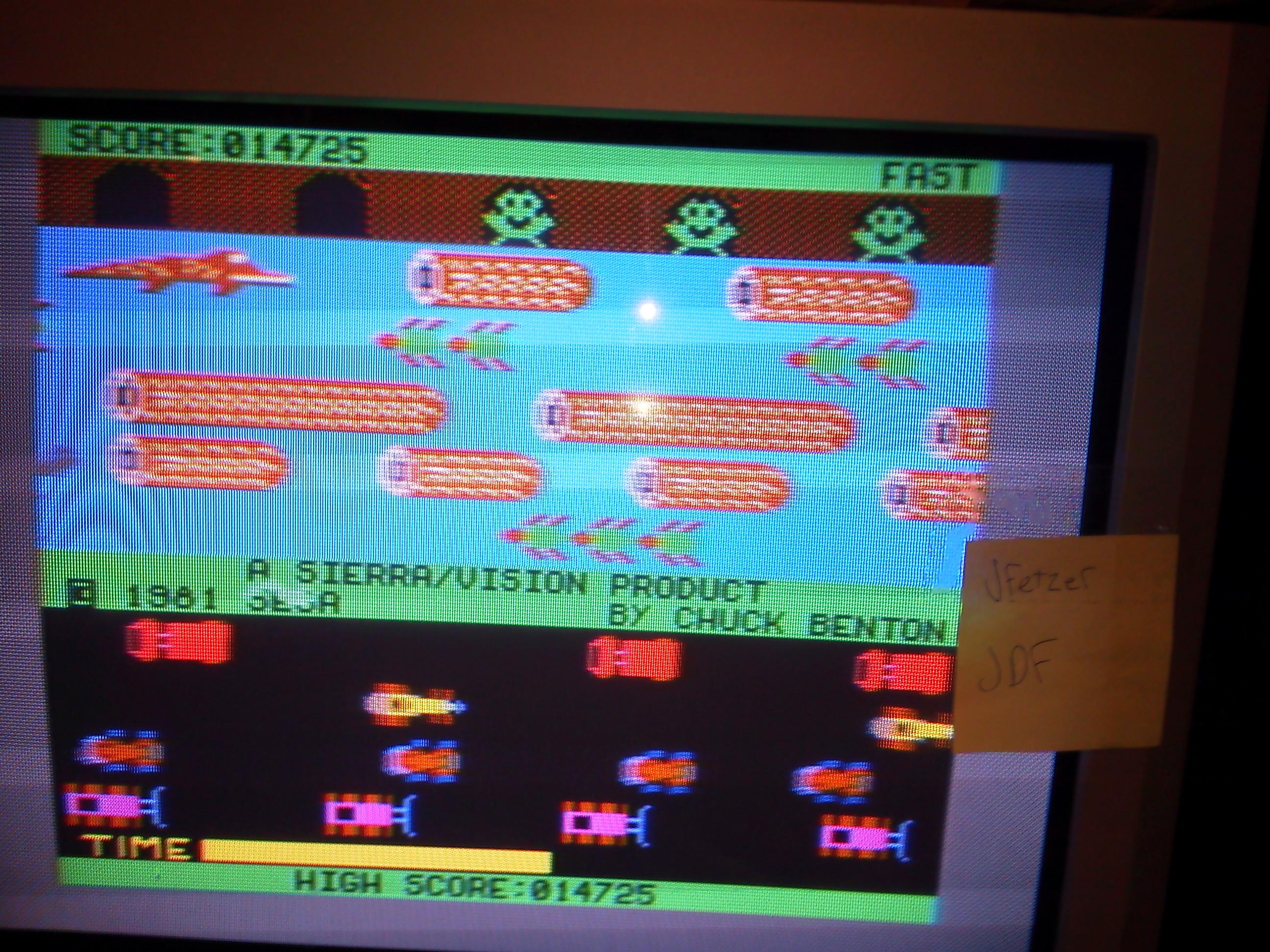 Frogger: Sierra 14,725 points