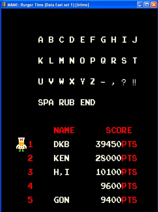 DarrylB: BurgerTime (Arcade Emulated / M.A.M.E.) 39,450 points on 2014-07-02 19:23:55