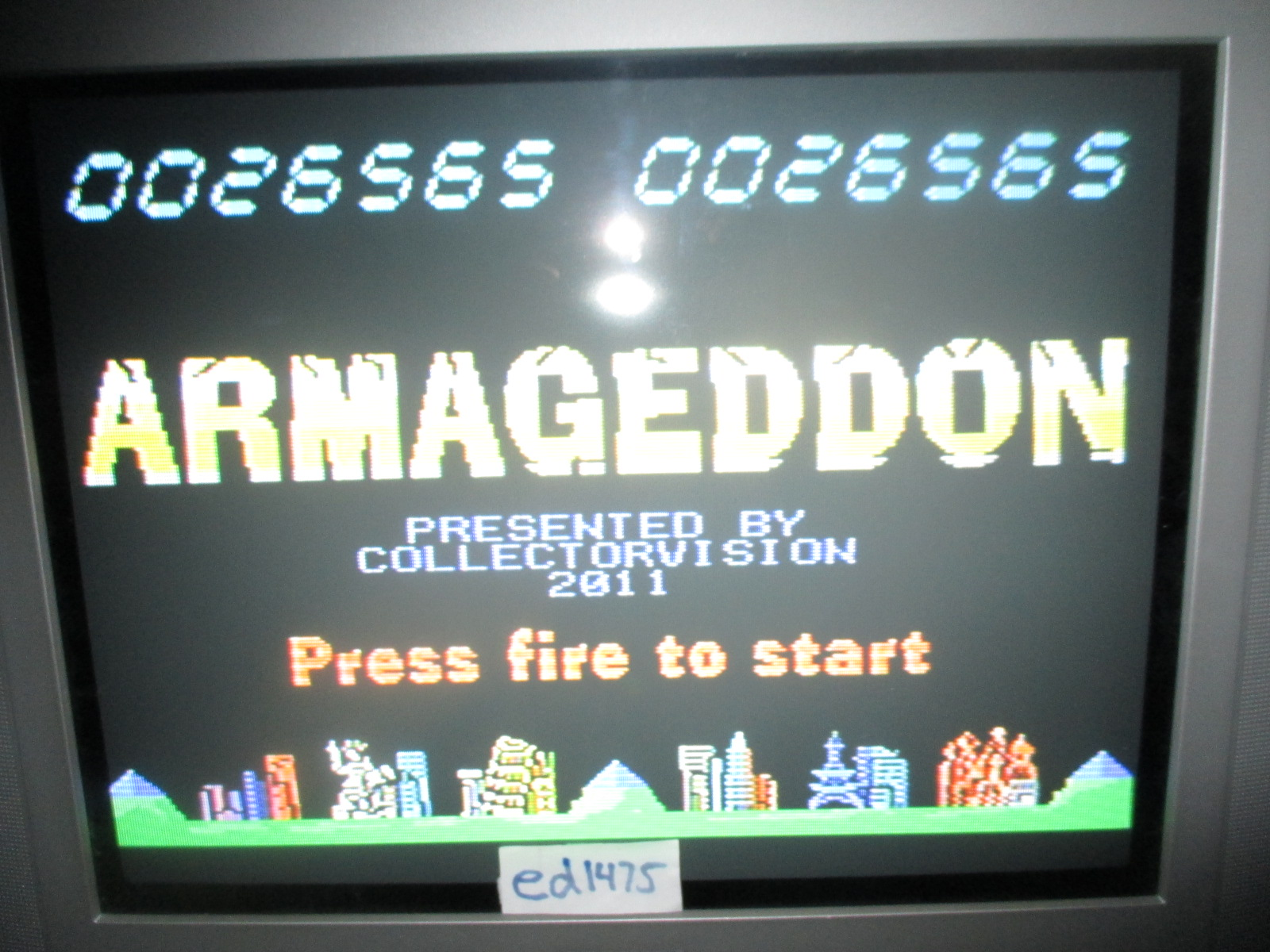 ed1475: Armageddon (Colecovision) 26,565 points on 2014-07-02 20:19:07